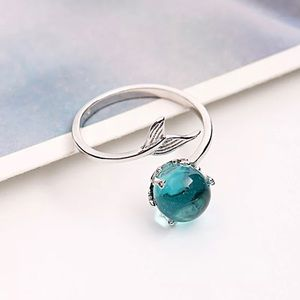!!LAST ONE!! Silver Mermaid Tail Bubble Ring